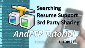 AndFTP tutorials