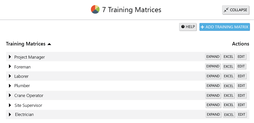 enhancing visibility with training matrices screenshot