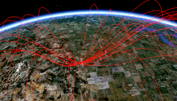 Google Earth Parabola Maps   Lines