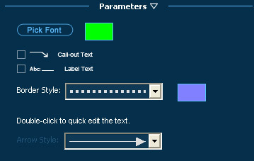Pool Studio Panel Parameters Text Tool Options
