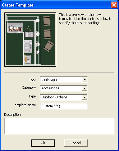 VizTerra Library Panel Save to Create Template