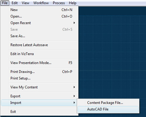 Pool Studio File Menu Import AutoCAD File