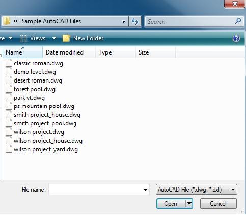 Pool Studio Import AutoCAD File