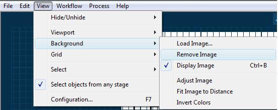 Pool Studio View Menu Remove Display or Adjust Background Image