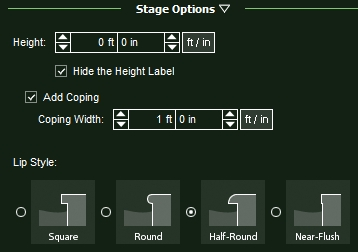 VizTerra Hardscapes Stage Options