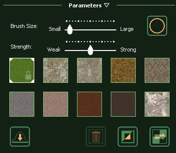 VizTerra Terrain 3D Paint Parameters