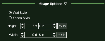 VizTerra Walls and Fences Stage Options