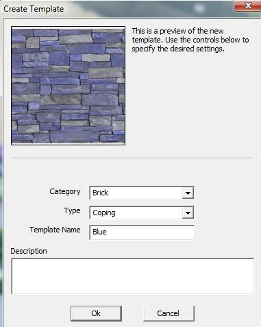 VizTerra Customize Materials Create Template