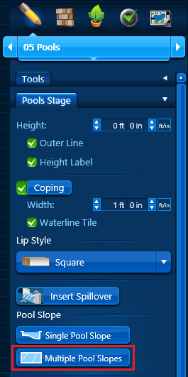 Pool Slope - Multiple