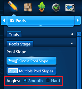 Pool Slope - Single Angles