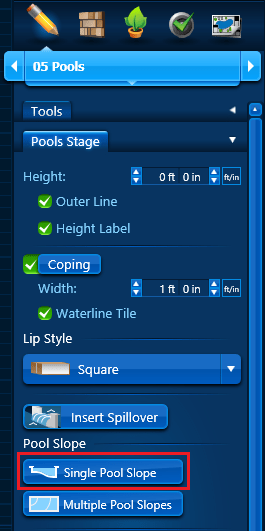 Pool Slope - Single