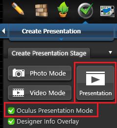 Create Presentation Oculus