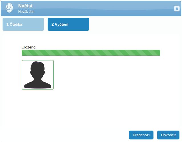 Nyní můžete na čtečce vyzkoušet, zda se enroll povedl