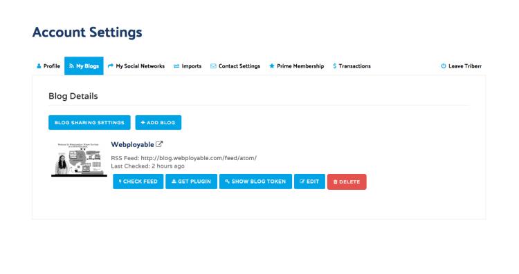 my blogs feed settings
