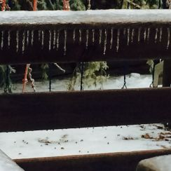 Icicles on Deck Rail - Copy