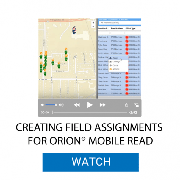 Create Field Assignments for ORION® Mobile Read