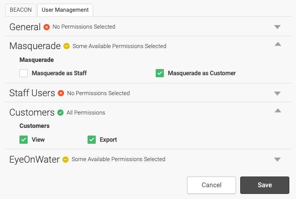 User Managemenet Tab