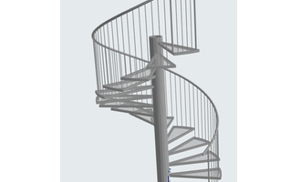 Stair Tool Basics How To Create Metal Spiral Stair | Flexible Handrail For Spiral Staircase | Spiral Staircase Uk