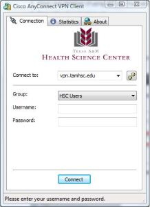connecting through HSC Users group