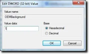 Change OEMBackground Value