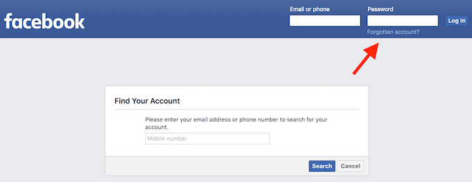 How To Recover A Facebook Account When You Can T Log In