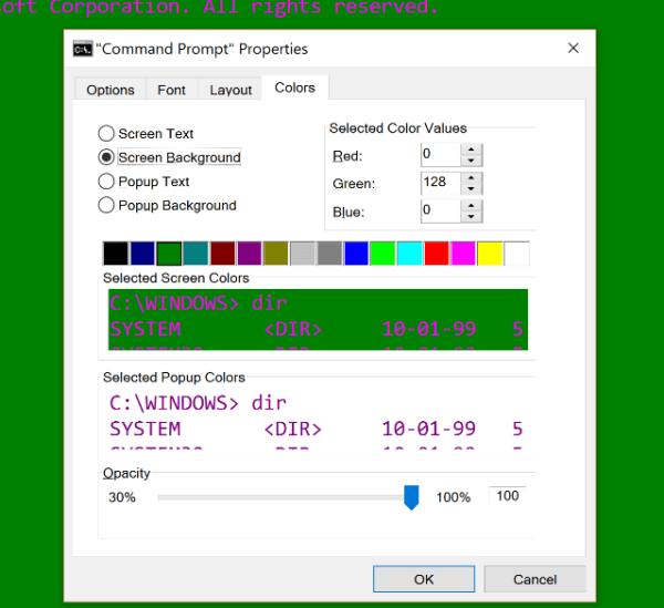 Как изменить цвета командной строки в Windows