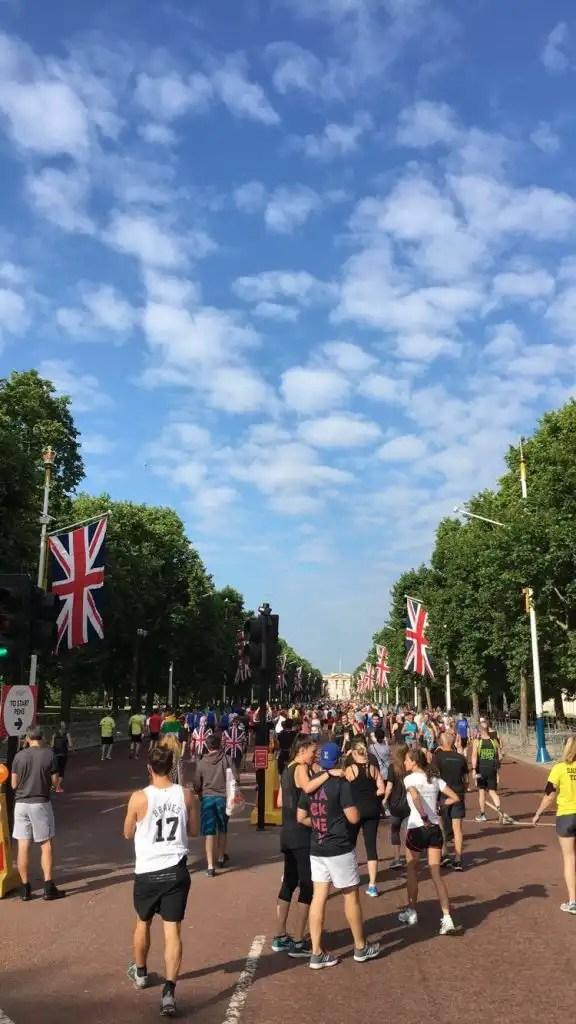 British 10K - walk to the start