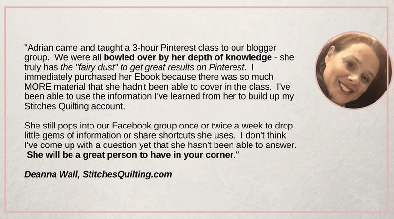 Pinterest Ebook - testimonial images - Deanna