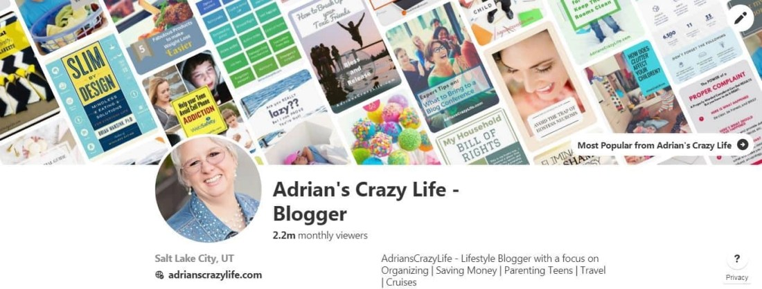 Adrian's Crazy Life - Group boards for all lifestyle topics.