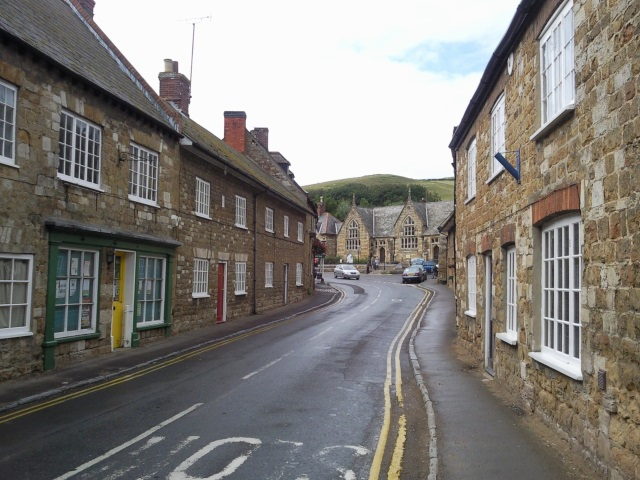 The main road running through Abbotsbury