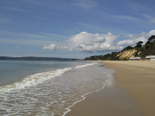 Branksome beach - beautiful golden sands and ice-cold water