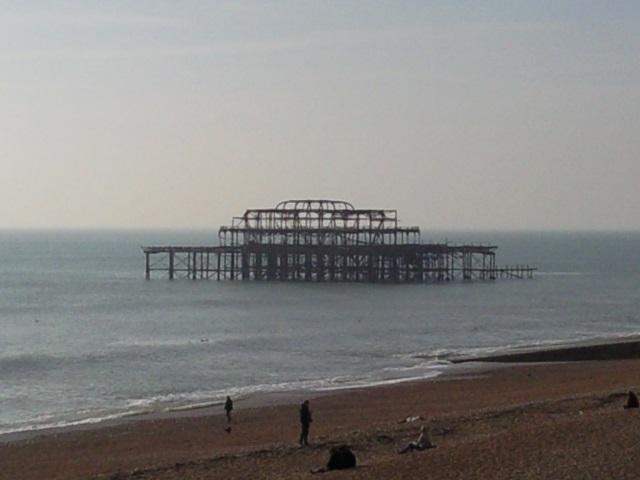 The sad, burnt remnants of Brighton's West Pier