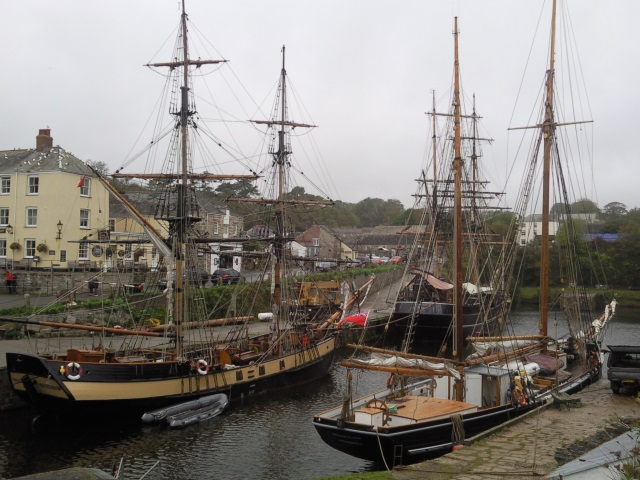 Age of Sail style sailing ships in Charlestown harbour