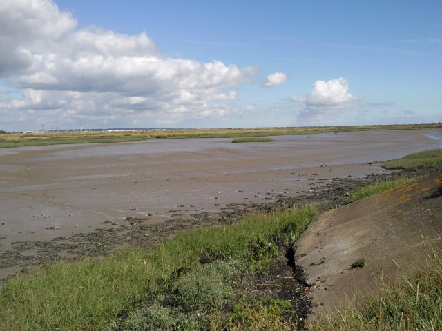 Cliffe Creek at low tide exposing vast swathes of mud