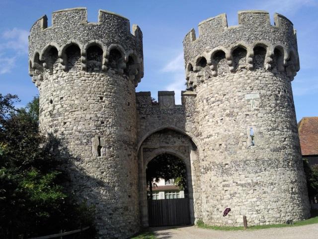 A castle gatehouse