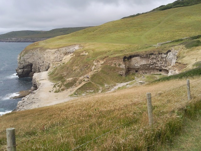 Dancing Ledge from cliff path to the east