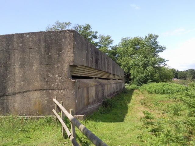 WW2 emplacement exterior - basically a concrete box with a slit across it