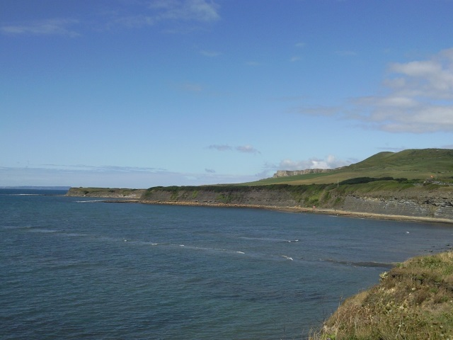 View westwards from Kimmeridge Bay with Tyneham Cap in the distance