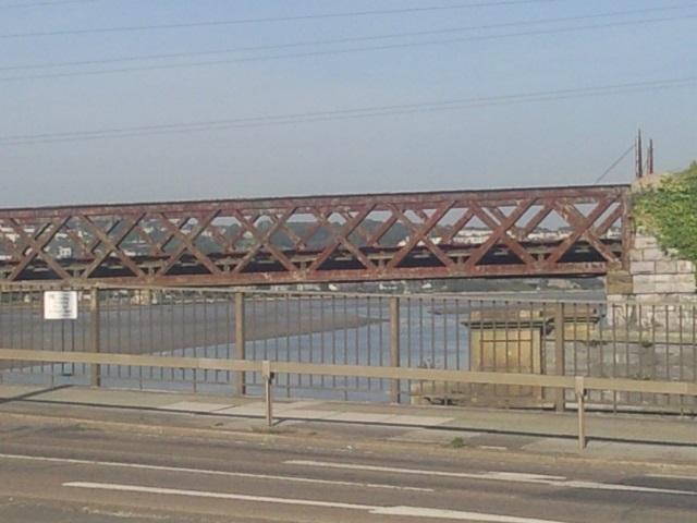 Laira Railway Bridge, rusted and forlorn