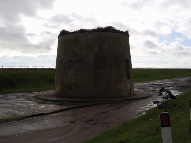 A ruined Martello Tower