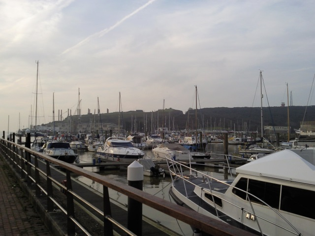 Newhaven Marina with Newhaven Fort in the background