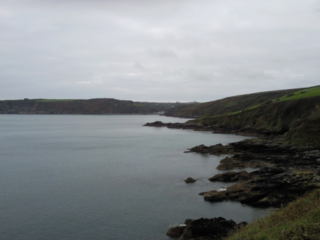 Porthallow seen from a nearby headland