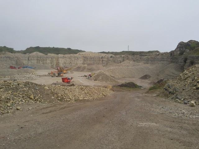 An active quarry