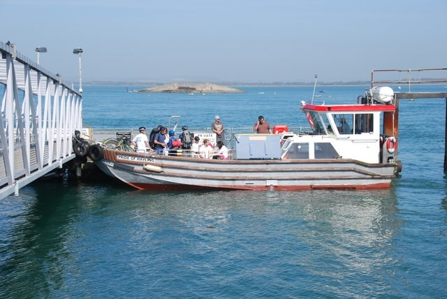 A small ferry boat
