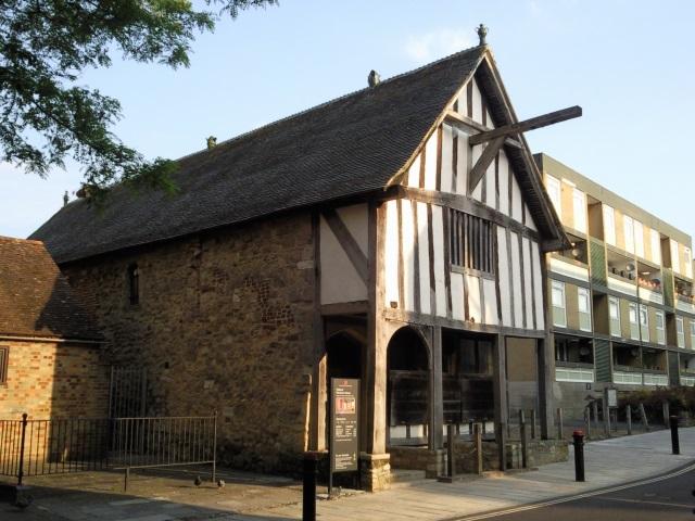 A half-timbered mediaeval merchant's house