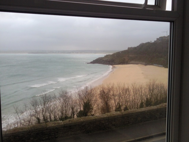 View of Porthminster Beach from B&B window
