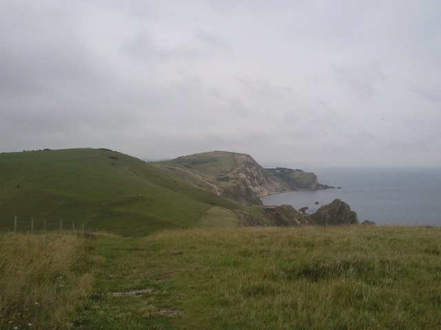 The view back from the top of Swyre Head.