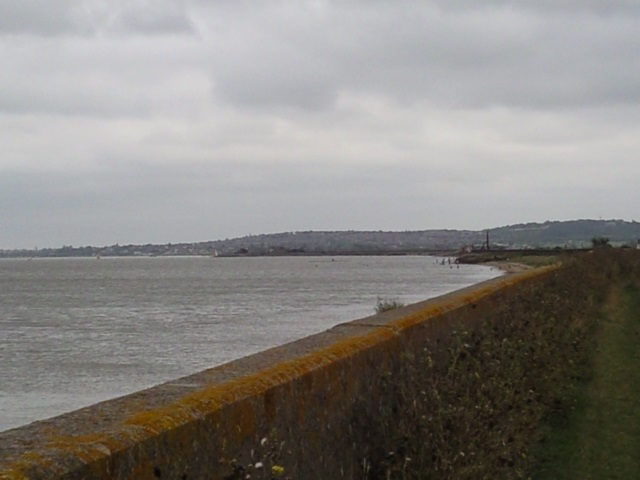 A view of Whitstable in the distance, further along the coast