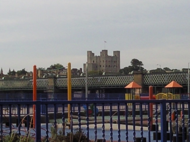 Rochester Castle, as seen from across the Medway