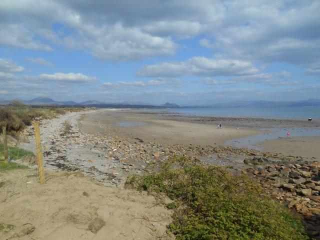 View back from Afon Wen beach